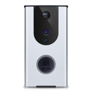 Dynamode Smart Outdoor Video Doorbell, Wireless, Day/Night